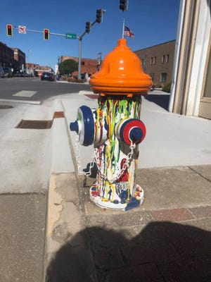 An Ardmore man is facing charges for allegedly stealing the fire hydrant pictured from the downtown area.