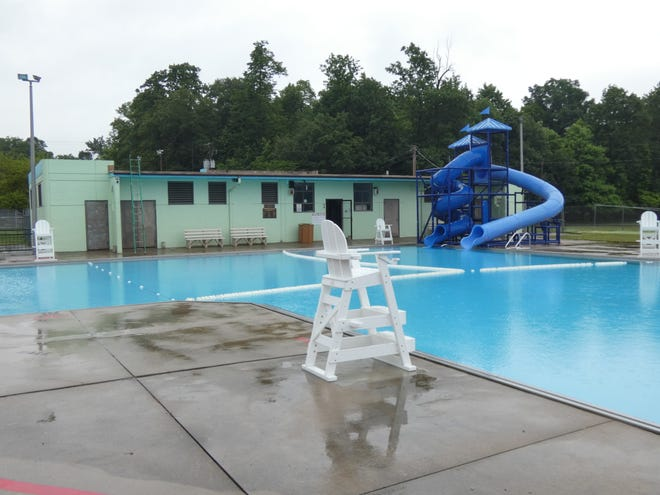 After being closed more than a year for extensive repairs, the pool at Aumiller Park will open at 1 p.m. Wednesday. The pool remained closed Tuesday because of rain.