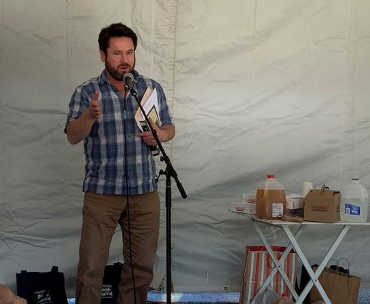 B.J. Ward hosts an event at the 2019 Collingswood Book Festival.