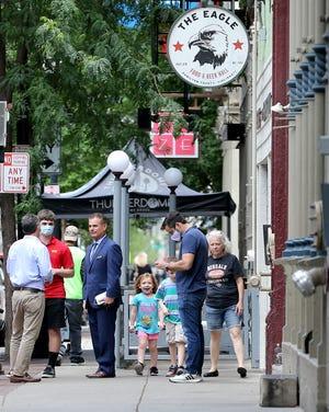 The Eagle Food & Beer Hall on Vine Street in the Over-the-Rhine neighborhood of Cincinnati.