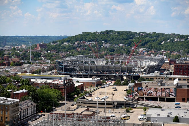 View of FC Cincinnati's West End Stadium, Friday, June 19, 2020, in Cincinnati.
