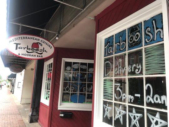Tarboosh & Hookah Bar on Franklin Street in downtown Clarksville