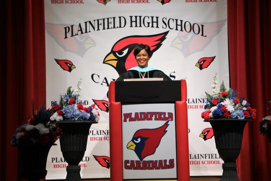 Plainfield High School Principal Dion Roach as well as Plainfield Academy for the Arts and Advanced Studies Principal Dr. Angela Bento (pictured) spoke to the graduates virtually on June 22.