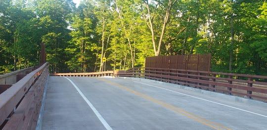 The New River Road bridge over the NJ Transit tracks in Branchburg.