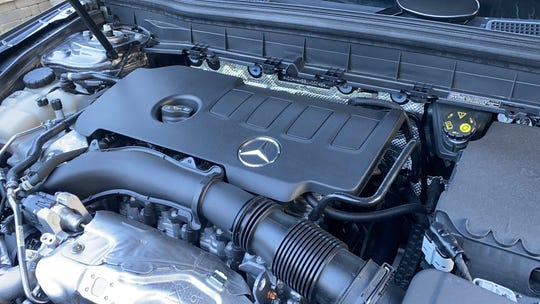 The 2020 Mercedes-Benz GLB250 4Matic's 2.0L turbocharged engine produces 221 hp and 258 lb-ft of torque.
