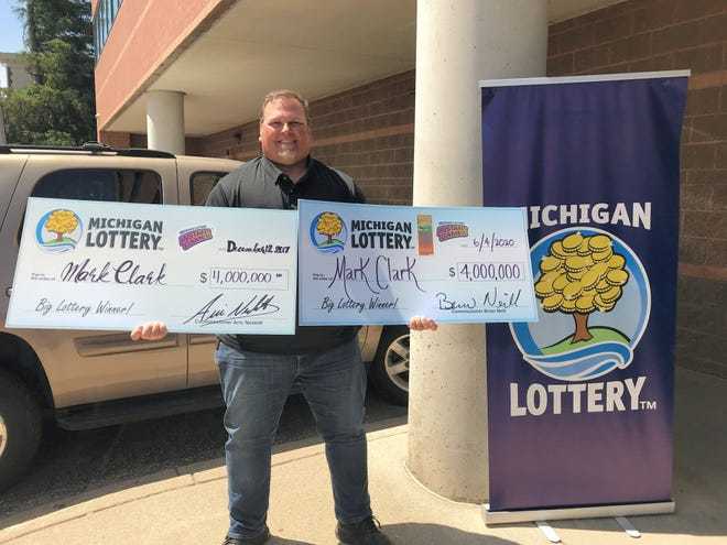 Mark Clark, of South Rockwood, won $4 million prize playing $150,000,000 Payout June 4, 2020. He first one the same prize playing the Lottery's Millionaire's Club instant game in Dec. 2017.