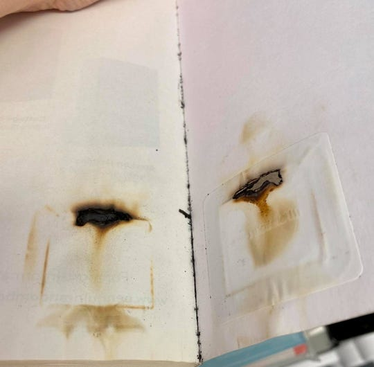A book was returned to Kent District Library after it had been microwaved. Library officials say do not microwave books.