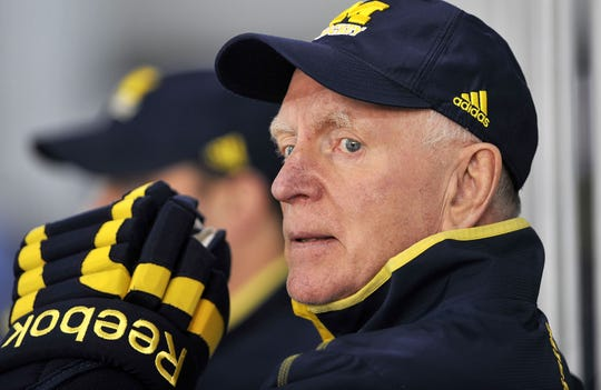 Red Berenson won two NCAA titles as Michigan's hockey coach, and also spent 17 seasons in the NHL as a player.