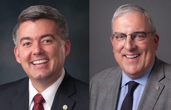 Cory Gardner and Wade Troxell