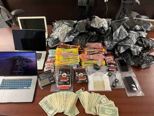 Evidence seized from drug bust at Hyatt Place Hotel in Fort Myers on Tuesday, June 23, 2020.
