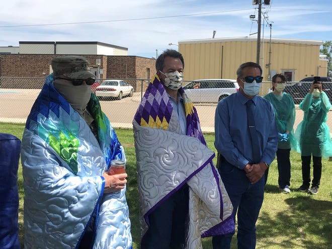 The Poplar COVID-19 surveillance testing event was attended by Montana National Guard Gen. Matthew Quinn, Gov. Steve Bullock and Fort Peck Tribal Chairman Floyd Azure.