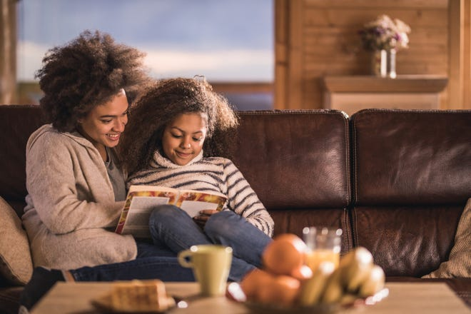 Reading together can be a great bonding activity for children and caregivers as they explore new stories and characters.