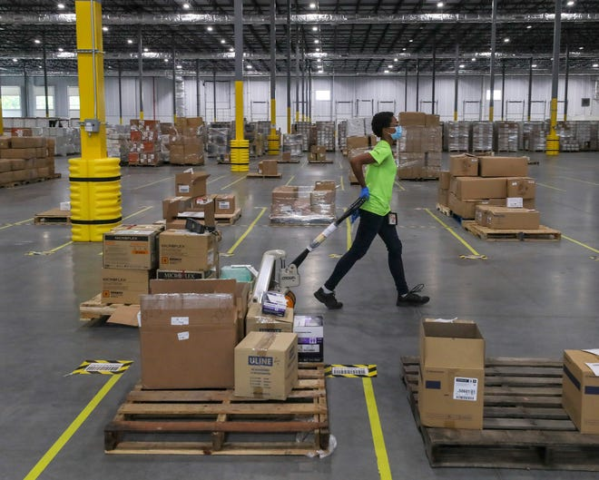 About 62,000 square feet of the UPS warehouse is dedicated to the distribution of 175 different products used on the front lines during the coronavirus pandemic. June 23, 2020