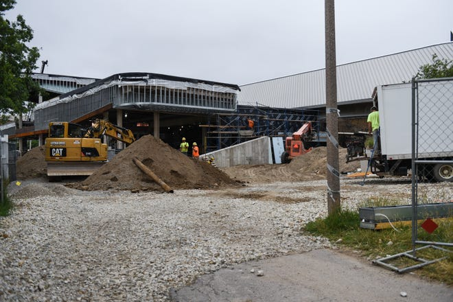 Contruction seen at Munn Ice Arena Tuesday, June 23, 2020.