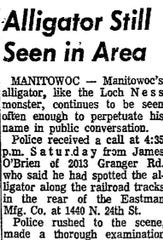 Headline in Sept. 19, 1966, issue of the Manitowoc Herald Times Reporter
