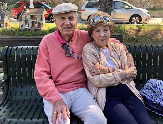 """Margaret Kerry and new husband Robert Boeke given a farewell party at the Los Angeles Walt Disney Barn in February.  Photo credit """"In Regions Beyond"""" (YouTube) and """"PetiteGhostess"""" (Instagram)."""
