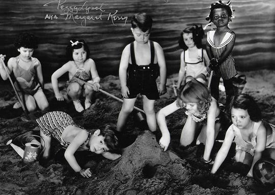 Margaret Kerry, top left, in an Our Gang short.  Credit: Hal Roach Studios, MGM