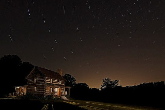The sense of serenity and peace of Chapel Hill House comes alive under the stars.