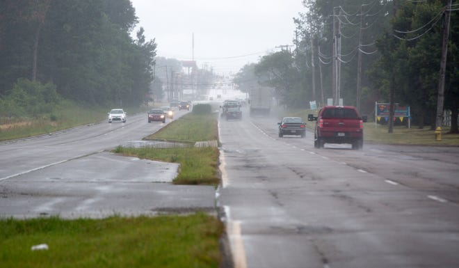 The empty medians East McGalliard Road near the BMV will be one location the city is looking to plant nearly 40 trees to improve the city's eastern gateway.