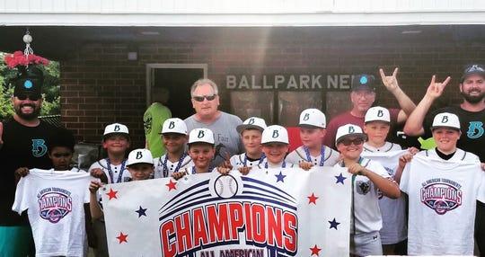 The Ohio Bison 10U won the Mansfield Diamond Days championship on Sunday.