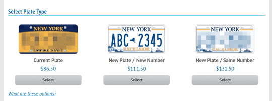 New York's new license plate has started to hit the streets in about a dozen counties across the state, according to the DMV. Drivers have the option to purchase it when renewing their registration.