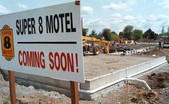 The Super 8 at 821 Evergreen Road in Woodburn when it was under construction in 1997.