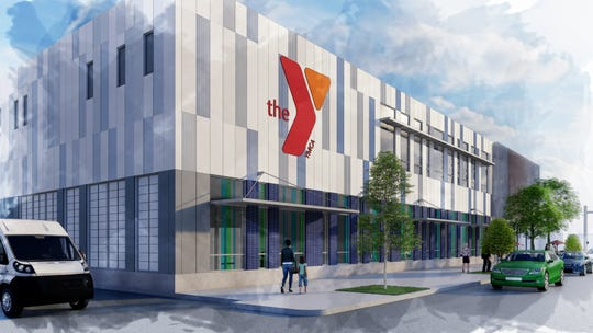 A rendering of the new Salem Family YMCA building.
