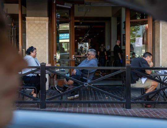 As Monterey County reopens people flock to restaurants amid a spike in COVID-19 cases in June 2020.