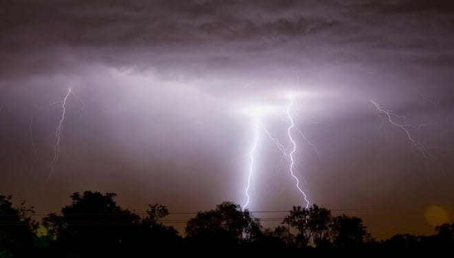 A severe thunderstorm is expected to hit San Angelo late Tuesday, March 16, 2021, according to the National Weather Service.