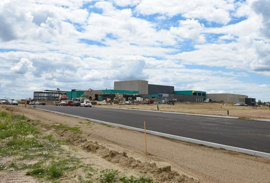 Construction continues on the new Jefferson High School on Tuesday, June 23, in Sioux Falls.
