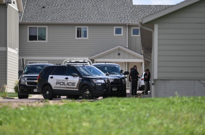 Police investigate a body found near the 6500 block of South Beal Avenue on Tuesday, June 23, 2020 in Sioux Falls, S.D.