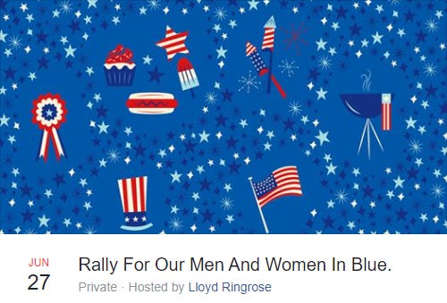 """The """"Rally For Our Men And Women In Blue"""" event will begin at 2 p.m. Saturday at the Lewis Drug Store on West 12th Street."""