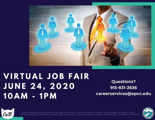 El Pasoans are encouraged to find a job through a virtual job fair Wednesday.
