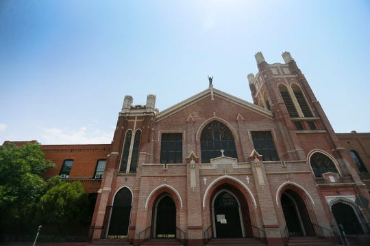 Sacred Heart Church in the Segundo Barrio is considered by many to be the heart of the neighborhood. It is shown Tuesday, June 23, 2020, in El Paso. As of Tuesday, a plan for a Segundo Barrio National Historic District did not include the church in its boundaries.