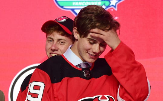 The Devils won last year's draft lottery and chose Jack Hughes No. 1 overall.