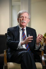 John Bolton sits for an interview with USA TODAY.
