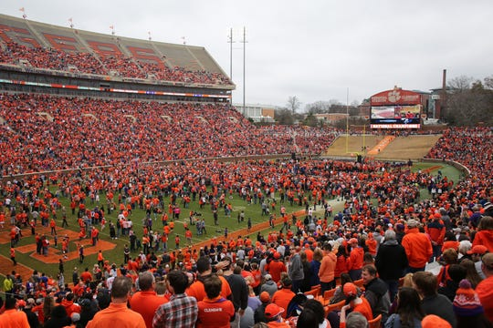 It's still not clear if we'll have scenes in the fall such as this one at Clemson.