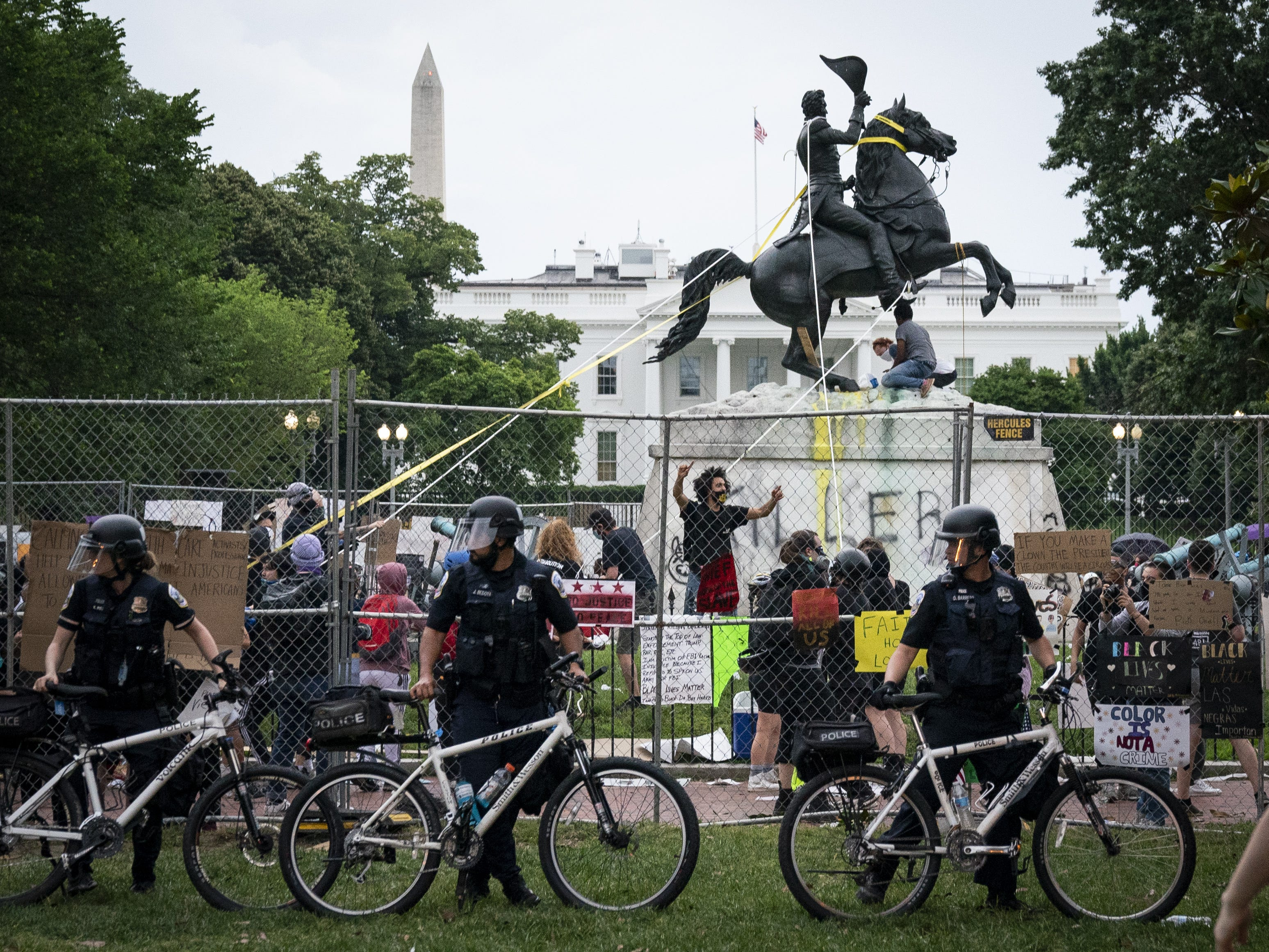 Reports: White House press told to leave grounds as tensions rise over attempted removal of Andrew Jackson statue