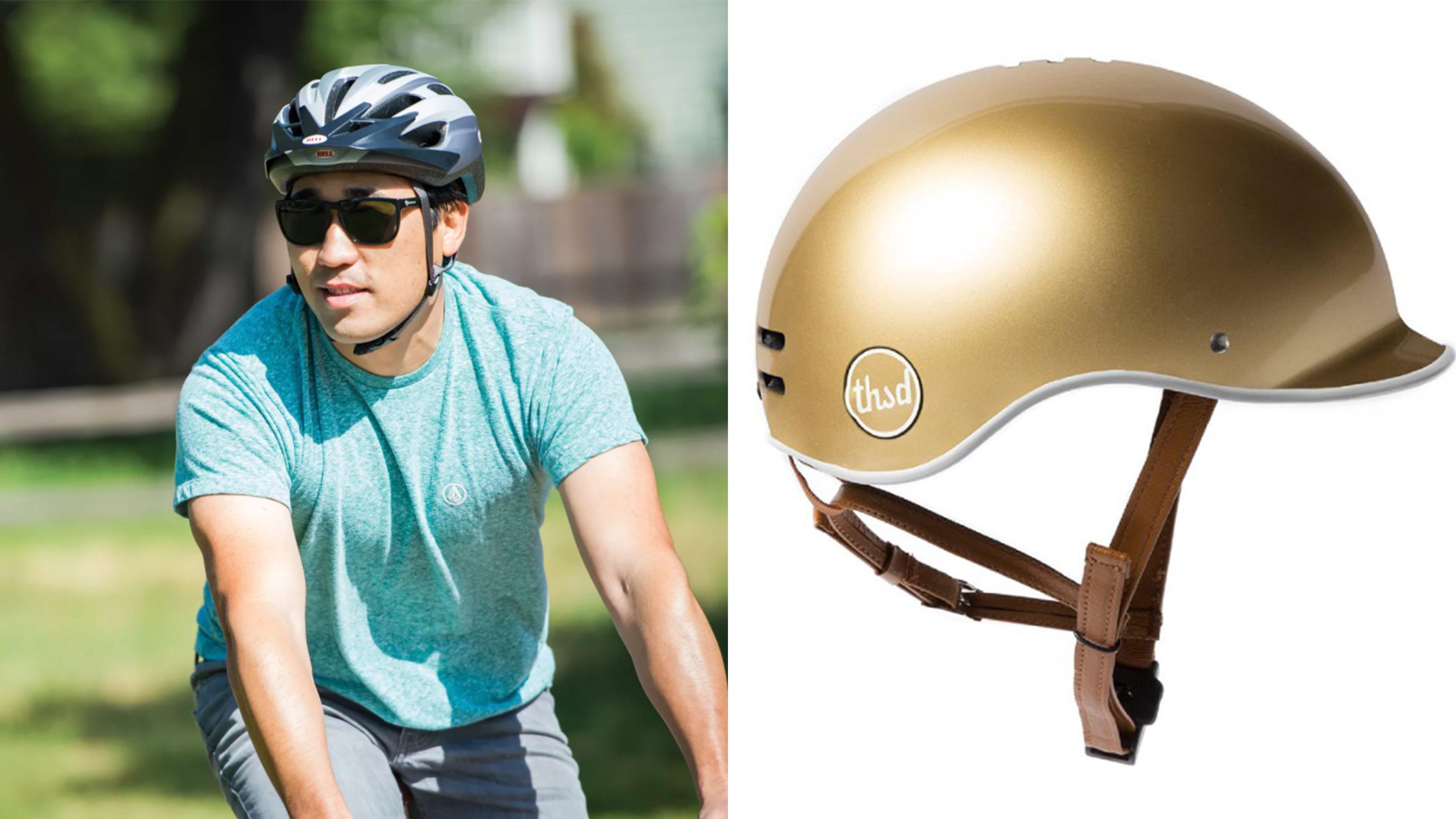 Adult Airflow Biking Helmet W// Detachable Visor Adjustable Strap Cycling Helmet