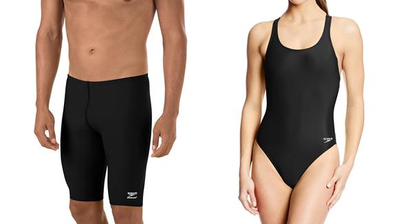 Speedo swimsuits.