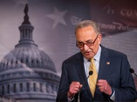Senate Majority Leader Chuck Schumer of N.Y., speaks during a news conference on Capitol Hill, Tuesday, June 16, 2020, in Washington. (AP Photo/Manuel Balce Ceneta) ORG XMIT: DCMC101