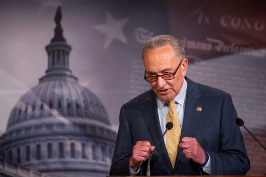 In 2018, as Justice Anthony Kennedy retired, Sen. Chuck Schumer suggested the Senate wait until after that fall's election to confirm a replacement for him.