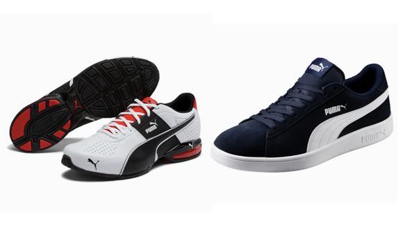 Puma sneakers.