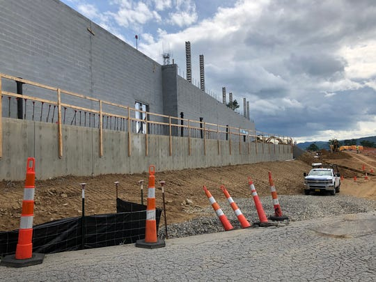 Exterior walls are up at the new Ingles on Airport Road, which should open early next year.