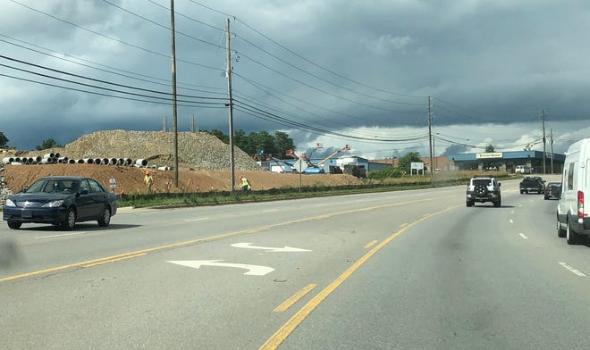 This section of Airport Road by a new Ingles supermarket going in on the left will get a new traffic light.