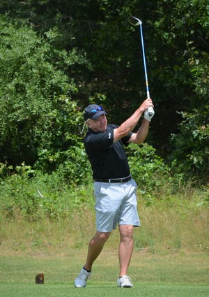 Mike Raymond wins the Senior Calhoun County Golf Championship at Binder Park Golf Course on Wednesday.