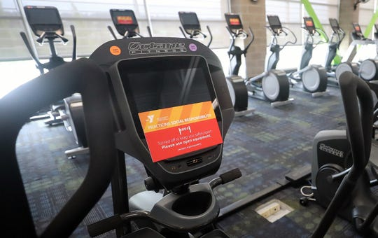 Every other cardio machine will be turned off to comply with social-distancing requirements at Haselwood Family YMCA in Silverdale. Gyms are allowed to reopen to 50% capacity when the county is approved to enter Phase 3.