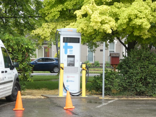 An electric car charging station has been installed in Bucyrus' City Lot 6, near Picking Park.