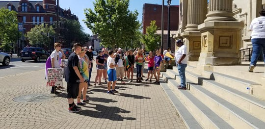 A photo from July 2019 when the First Capital PRIDE Coalition held its first pride walk in downtown Chillicothe. The event was the first LGBTQ walk to happen in Chillicothe for several years, according to Daniel Mathuews, president.