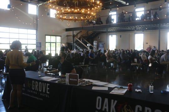 Oak Grove Racing & Gaming held a job fair at Old Glory Distilling Co. on June 23, 2020.